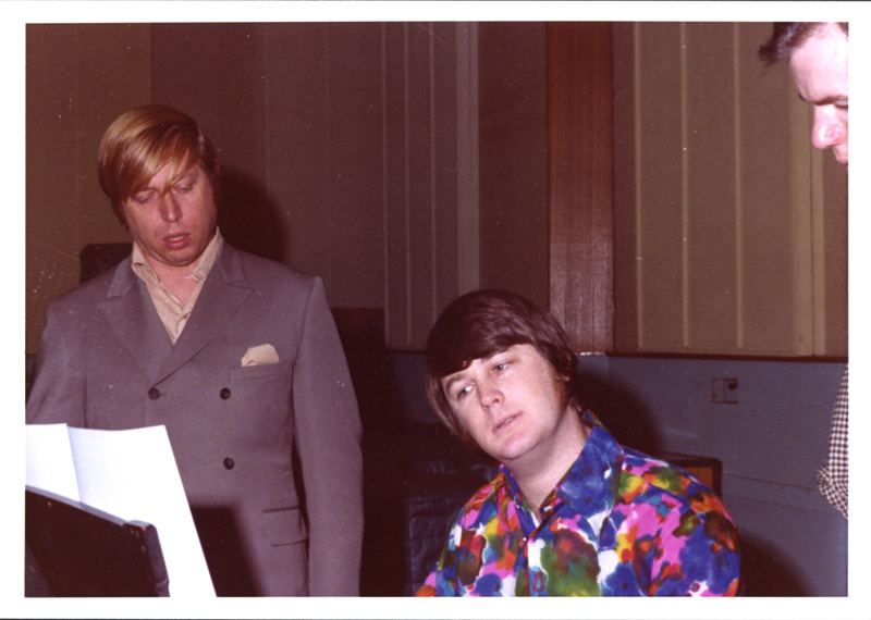 Brian Wilson and Don Randi (left) at Western Recorders, Hollywood, circa 1966/1967.