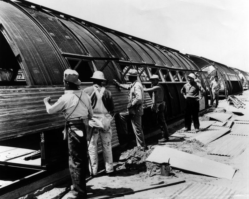 building of quonset hut