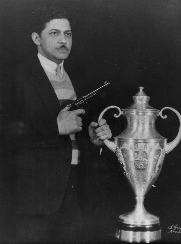 Sharp shooter Dr. Eugene and trophy