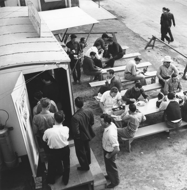 lockheed employees enjoy lunch