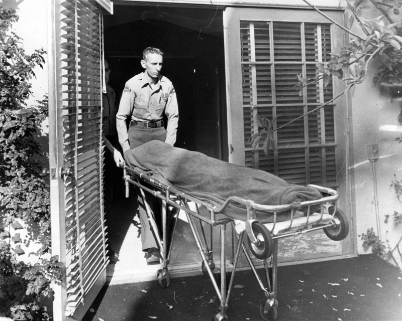 marilyn monroe's body taken to coroner