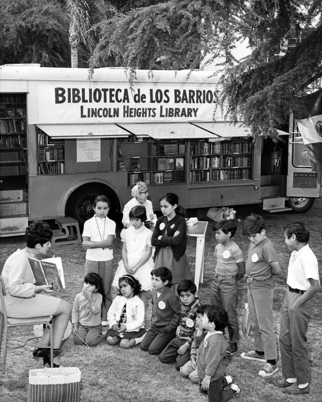 Children's books in the LAPL bookmobile