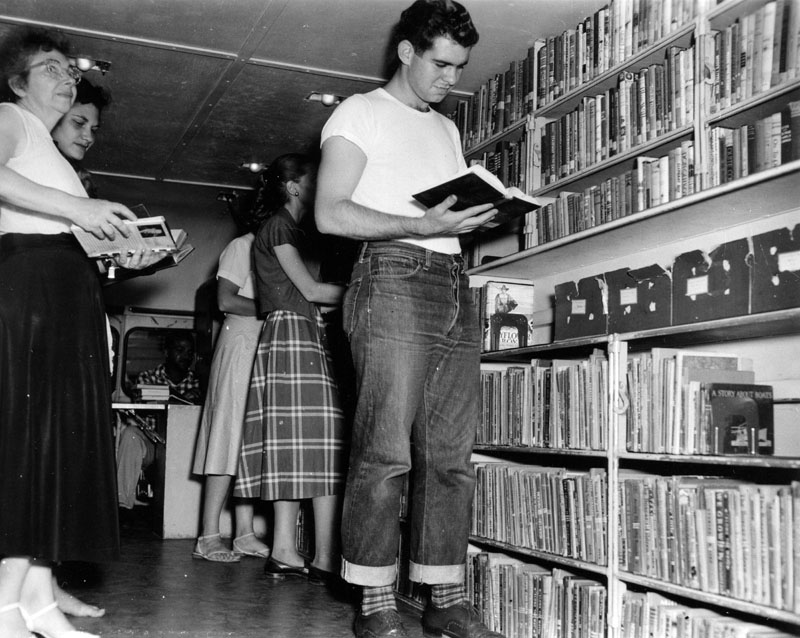 comics and classic literature in bookmobile