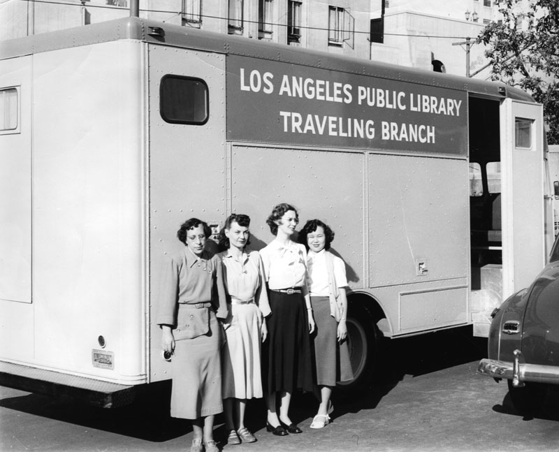 LAPL bookmobile in 1949