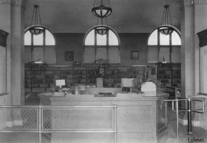interior of cahuenga branch library