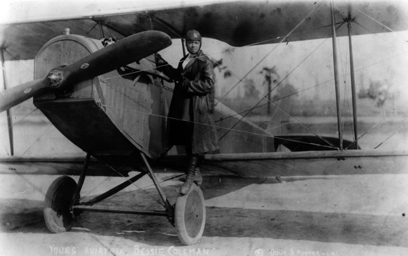bessie coleman and plane