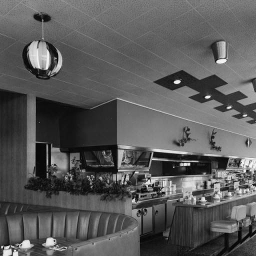 inside snap's coffee shop